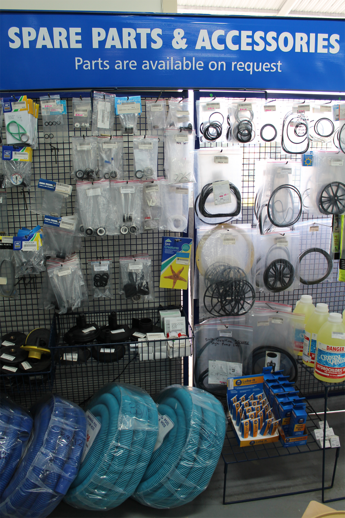 Aqua Technics stocks a huge range of accessories, spare parts and plumbing fittings in store at 27 The Concourse, Henderson.