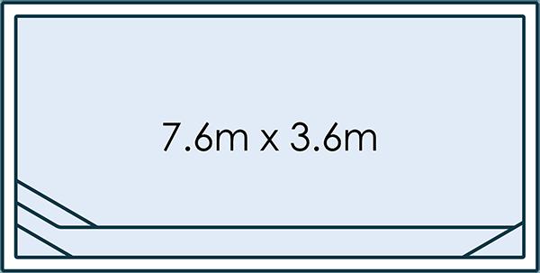 Cambridge - 7.6m x 3.6m